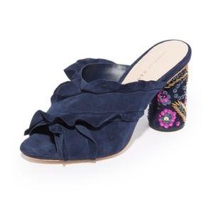 Loeffler Randall Kaya Embellished Ruffle Sandal